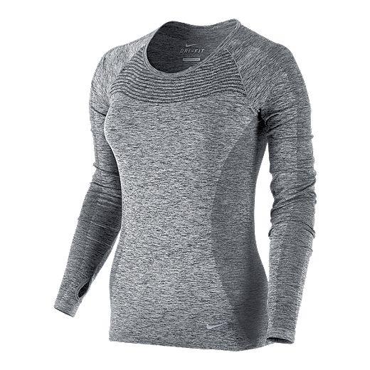 Nike Run Dri Fit Knit Women S Long Sleeve Top Sport Chek Wms xsmall #718582 533 retail $80. nike run dri fit knit women s long
