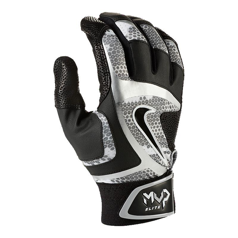 Nike Gloves Footasylum: Nike MVP Elite Batting Gloves - Black / Grey