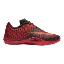 Nike Men's HyperLive Basketball Shoes - Red/Grey