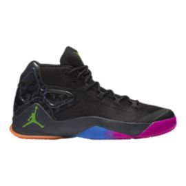 Nike Men's Jordan Melo M12 Basketball Shoes - Black/Pink/Green