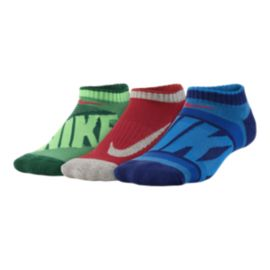 Nike Graphic Cotton Cushion No-Show Kids' Socks 3 - Pack
