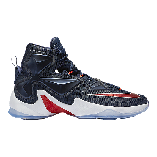 newest b62a9 f8111 Nike Men s LeBron XIII Basketball Shoes - Navy Red White   Sport Chek