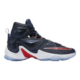 Nike Men's LeBron XIII Basketball Shoes - Navy/Red/White
