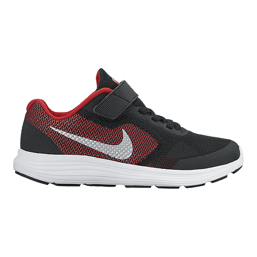 d6ded7f7382 Nike Kids  Revolution 3 Preschool Running Shoes - Red Black White ...