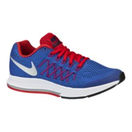 Nike Kids' Zoom Pegasus 32 Grade School Running Shoes - Blue/Silver/Red