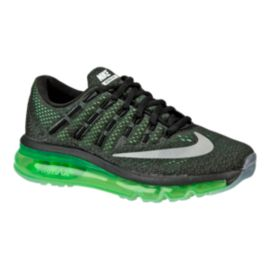 Nike Kids' Air Max 2016 Grade School Running Shoes - Black/Volt