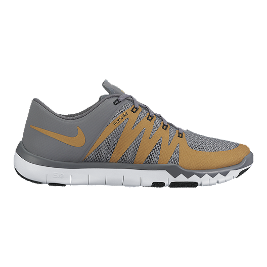 uk availability dd8c9 9f9a6 Nike Men s Free Trainer 5.0 V6 Training Shoes - Grey Gold   Sport Chek