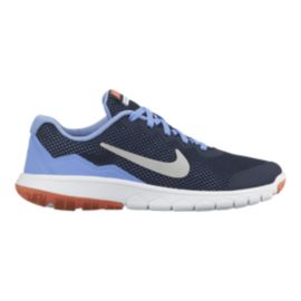 Nike Girls' Flex Experience 4 Grade School Running Shoes - Obsidian/Blue