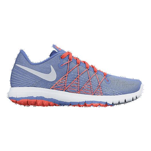 big sale c7b10 0e7bb Nike Girls' Flex Fury 2 Grade School Running Shoes - Blue ...