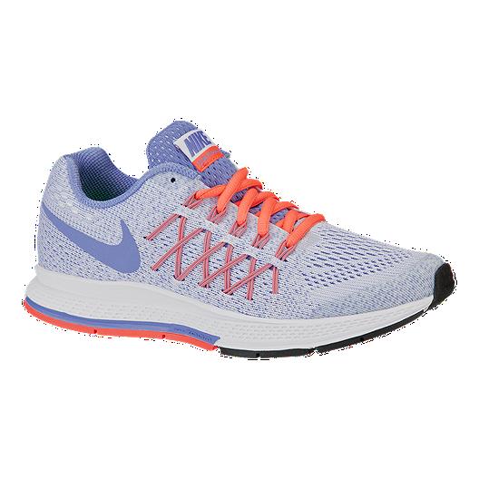 38d9553cc5 Nike Girls' Zoom Pegasus 32 Grade School Running Shoes - White/Blue/Mango |  Sport Chek