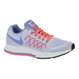Nike Girls' Zoom Pegasus 32 Grade School Running Shoes - White/Blue/Mango