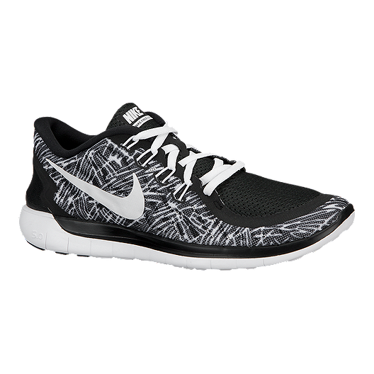 c7fdfe6d405b Nike Women s Free 5.0 2015 Print Running Shoes - Black White Pattern ...