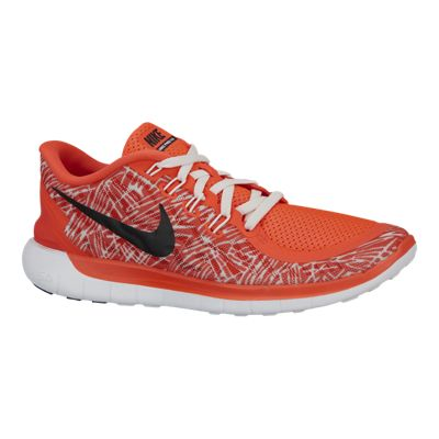 Nike Women's Free 5.0 2015 Print Running Shoes - Orange/White