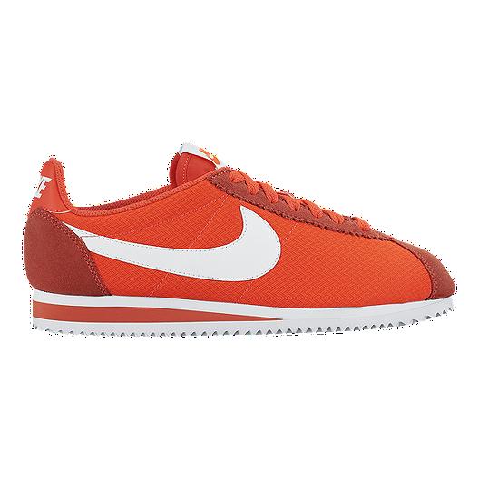 online store 6f463 c21f2 Nike Women s Classic Cortez Shoes - Orange White   Sport Chek