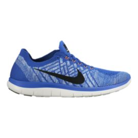 Nike Women's Free 4.0 FlyKnit Running Shoes - Blue/White/Black