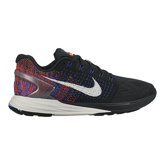 high quality discount shop new product Nike Women's LunarGlide 7 Running Shoes - Black/Blue/Orange
