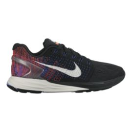 Nike Women's LunarGlide 7 Running Shoes - Black/Blue/Orange