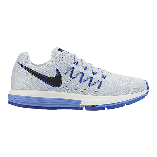 ae254a4a41530 Nike Women s Air Zoom Vomero 10 Running Shoes - Light Grey Blue Black