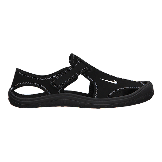 89b554868139d Nike Kids  Sunray Protect Preschool Sandals - Black Grey White ...