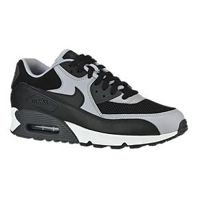 new style 3328c df468 Nike Mens Air Max 90 Essential Casual Shoes - BlackGrey