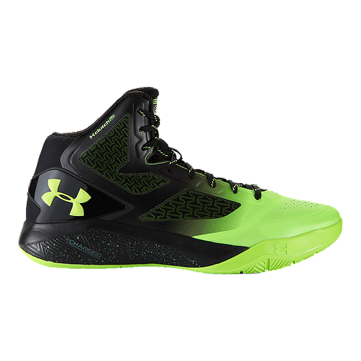 ab3cb8877924 Under Armour Men s ClutchFit Drive II Basketball Shoes - Black Green ...
