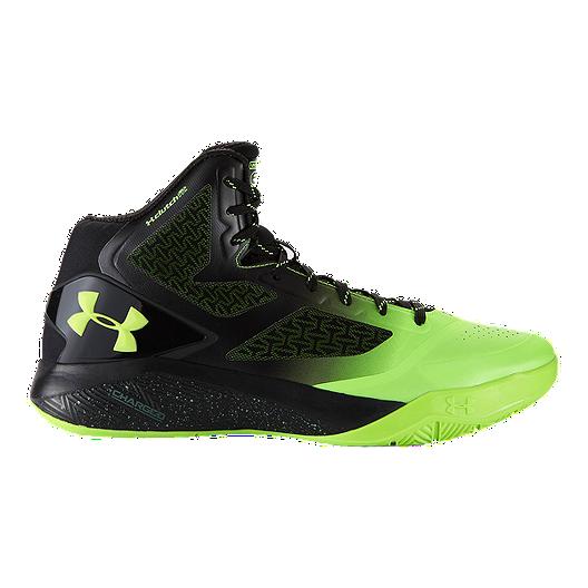 e774f5cd943b Under Armour Men s ClutchFit Drive II Basketball Shoes - Black Green ...
