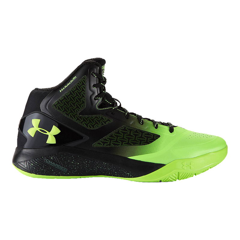finest selection 084a0 d81dc Under Armour Men s ClutchFit Drive II Basketball Shoes - Black Green    Sport Chek