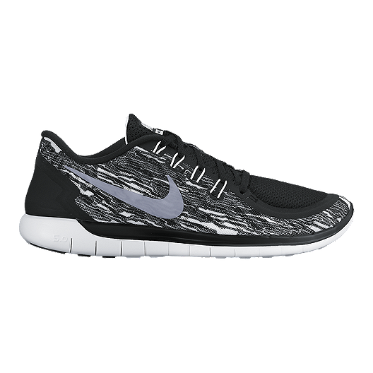 553854a53b5a Nike Men s Free 5.0 2015 Print Running Shoes - Black White