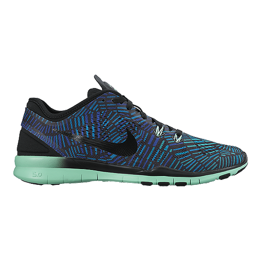 539ed1df52661 Nike Women s Free 5.0 TR Fit 5 Print Training Shoes - Blue Purple Black