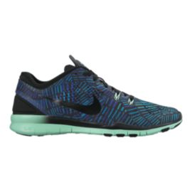 Nike Women's Free 5.0 TR Fit 5 Print Training Shoes - Blue/Purple/Black