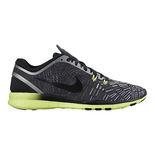 subterraneo En realidad filtrar  Nike Women's Free 5.0 TR Fit 5 Print Training Shoes - Black/Volt Green |  Sport Chek