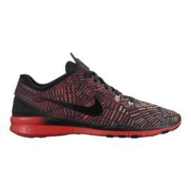 Nike Women's Free 5.0 TR Fit 5 Print Training Shoes - Black/Red