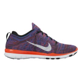 Nike Women's Free FlyKnit TR Training Shoes - Red/White