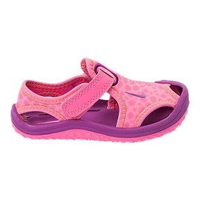 b3ad3cc8d7b65 Nike Girls  Sunray Protect Preschool Sandals - Pink Berry