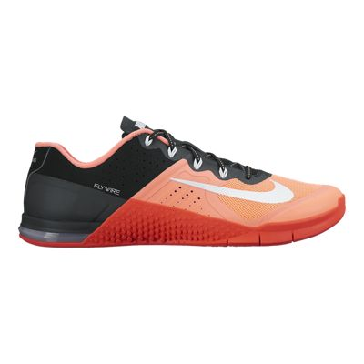 Nike Women's Metcon 2 Training Shoes - Orange/Black/Black
