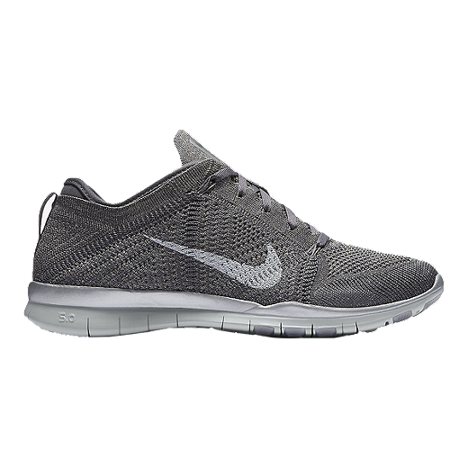 Nike Women's Free FlyKnit TR5 Metallic Training Shoes Grey
