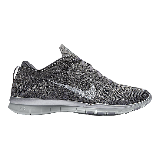 sneakers for cheap b85e0 3282b Nike Women s Free FlyKnit TR5 Metallic Training Shoes - Grey Silver   Sport  Chek