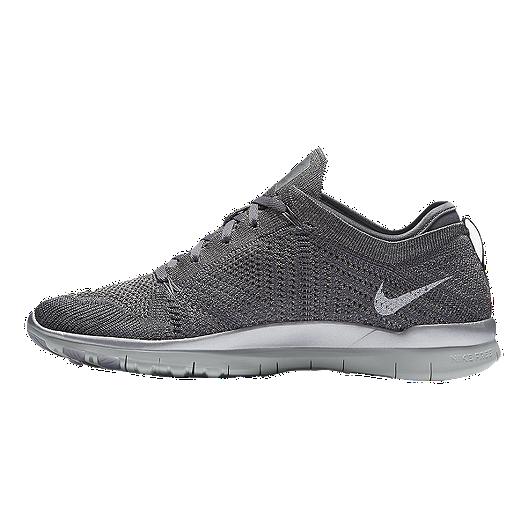 super popular b8fbe 437c1 Nike Women s Free FlyKnit TR5 Metallic Training Shoes - Grey Silver. (3).  View Description