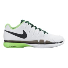 Nike Men's Zoom Vapor 9.5 Tour Tennis Shoes - White/Green/Black