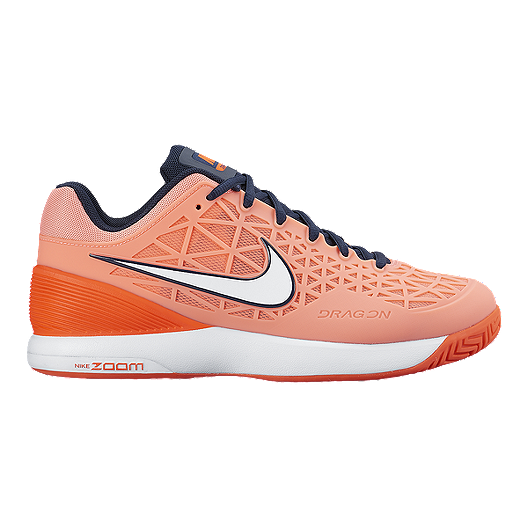 97ff63841e5bd Nike Women s Zoom Cage 2 Tennis Shoes - Pink Orange Navy
