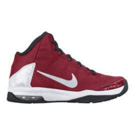 Nike Kids' Air Without-A-Doubt Grade School Basketball Shoes - Red/Silver/White