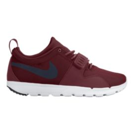 Nike Trainerendor Men's Skate Shoes - Maroon/White