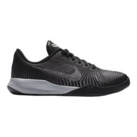 Nike Kids' Mentality 2 Grade School Basketball Shoes - Black/White/Grey