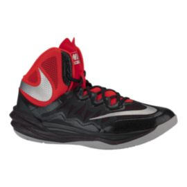 Nike Men's Prime Hype 2 DF Basketball Shoes - Black/Red/Silver