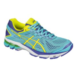 ASICS Women's GT-1000 4 Running Shoes - Teal Blue/Purple/Yellow