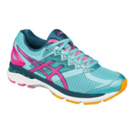 ASICS Women's GT-2000 4 Running Shoes - Aqua Blue/Pink