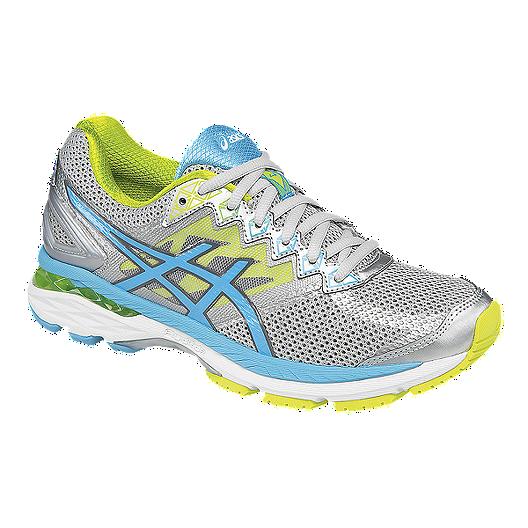 51a6ba5a9d4b ASICS Women s GT-2000 4 Running Shoes - Silver Lime Green Light Blue ...