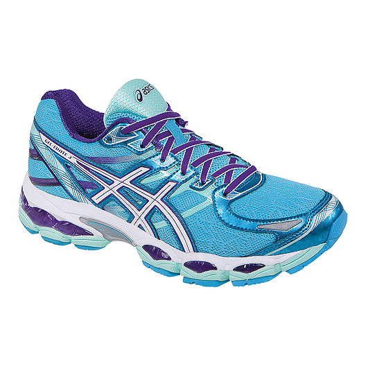 606697ce ASICS Women's Gel Evate 3 Running Shoes - Blue/Purple/White ...