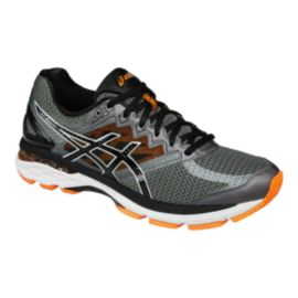 ASICS Men's GT-2000 4 B Width Narrow Running Shoes - Grey/Black/Orange