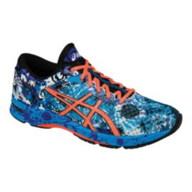 ASICS Men's Gel Noosa Tri 11 Running Shoes - Blue Pattern/Orange